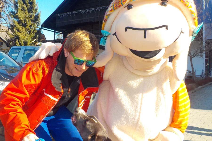 Ich, eine Skifahrerin
