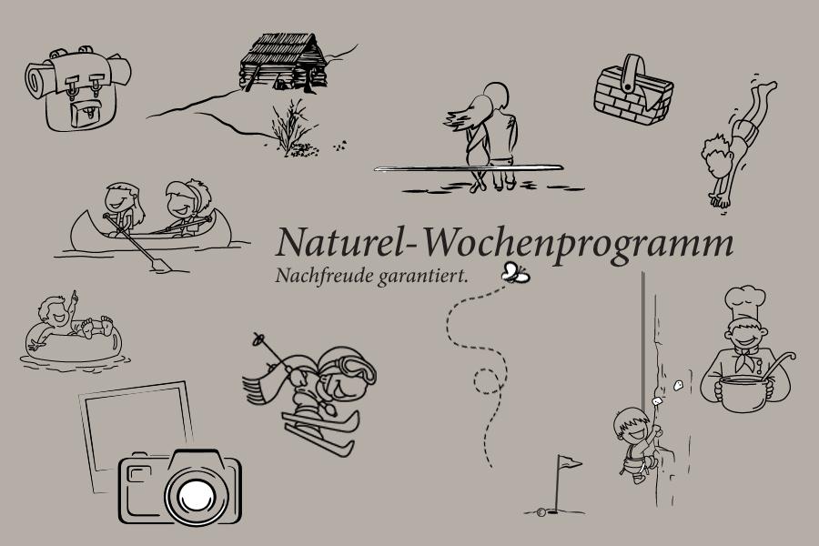 Das Naturel-Wochenprogramm zur Urlaubsvorbereitung
