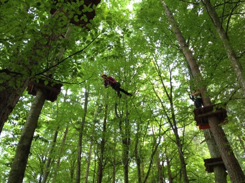 Wandern in Kärnten zum Hundsmarhof und fliegen im Kletterwald Ossiach