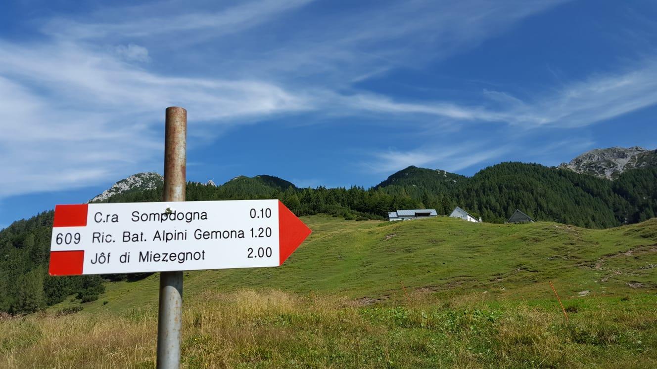 Unterwegs zum Jof di Miezegnot (2.087m)