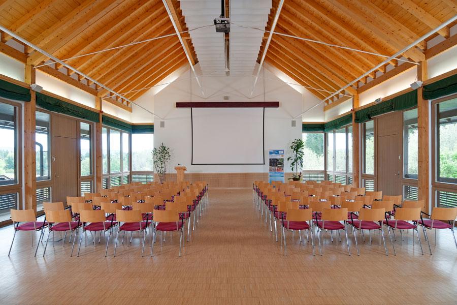 Senza Confini, Kinobestuhlung von Hinten, Tagungshotel Faaker See