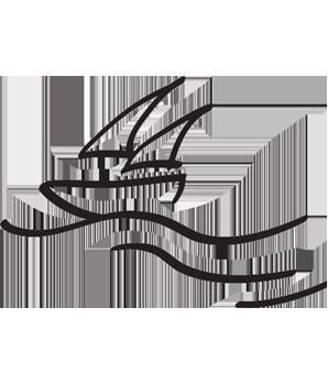 gezeichnetes Segelboot, Hoteldorf Kärnten