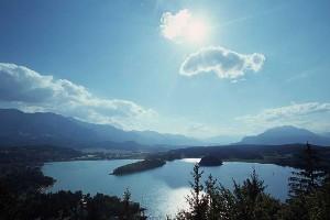 strahlender Sonnenschein am Faaker See