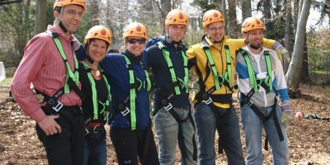Hochseilgarten Teambuilding im Dorf SCHÖNLEITN