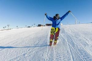 Skispaß auf der Piste, Gerlitzen Alpe