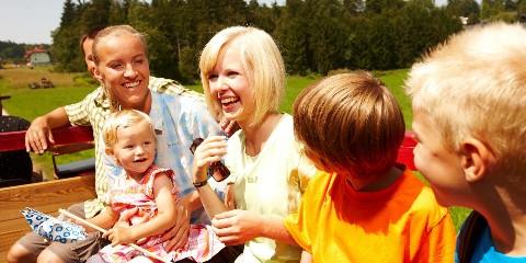 Familienausflug im Hänger
