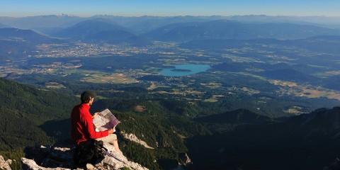 Gipfelaussicht auf den Faaker See