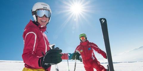 Skispaß bei strahlendem Sonnenschein in den Nockbergen