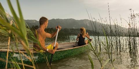 Kanu fahren am Faaker See