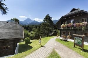 Hoteldorf SCHÖNLEITN mit Blick zum Mittagskogel