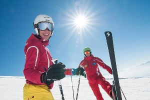 Skispaß mit Skilehrer
