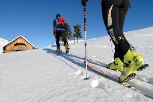 Nahaufnahme Skitourengänger